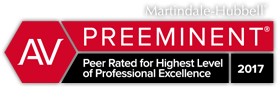 Martindale-Hubbell AV Preeminent, Peer Rated for Highest Level of Professional Excellence 2017